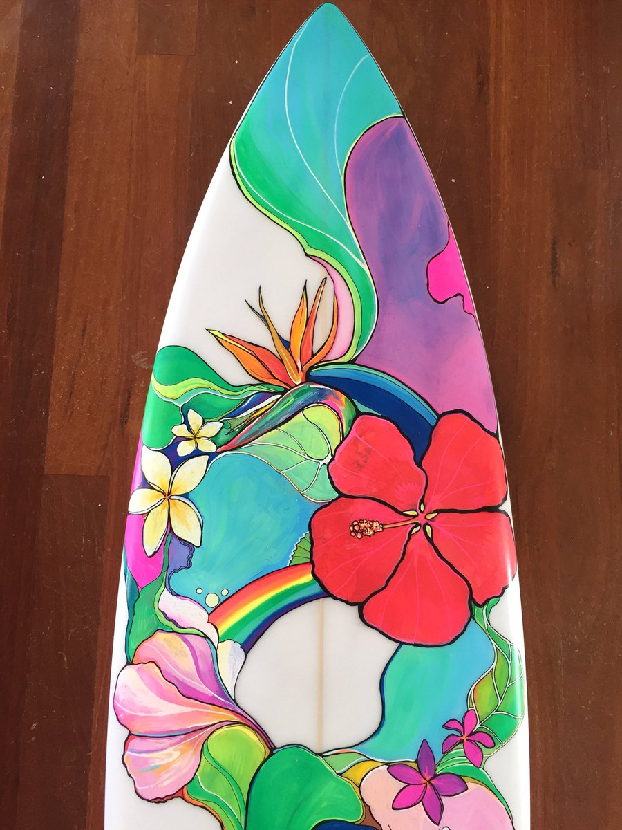 Colleen Wilcox On Twitter The Finished Tropical Flower Design