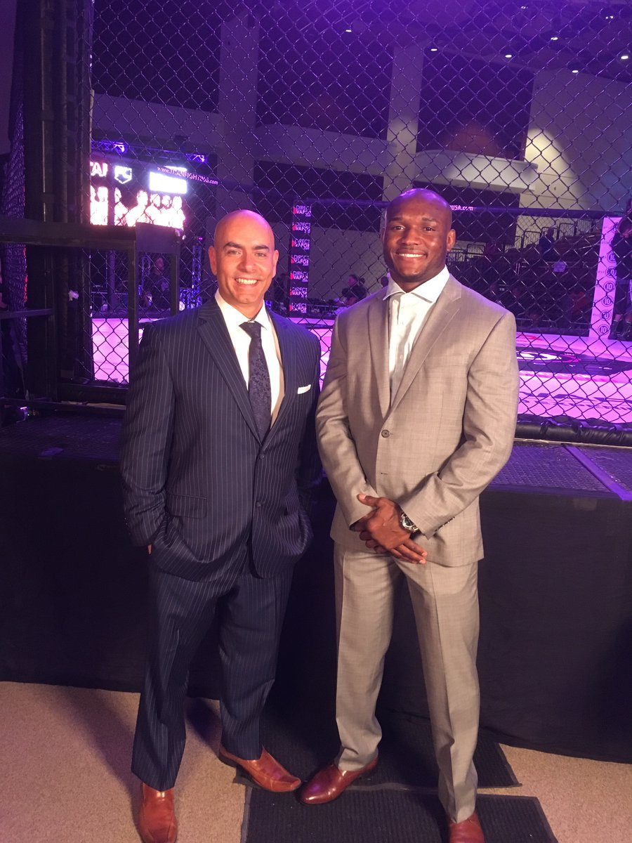 Ready to go - @usman84kg and will have tonight's call of #titanfc45 on...