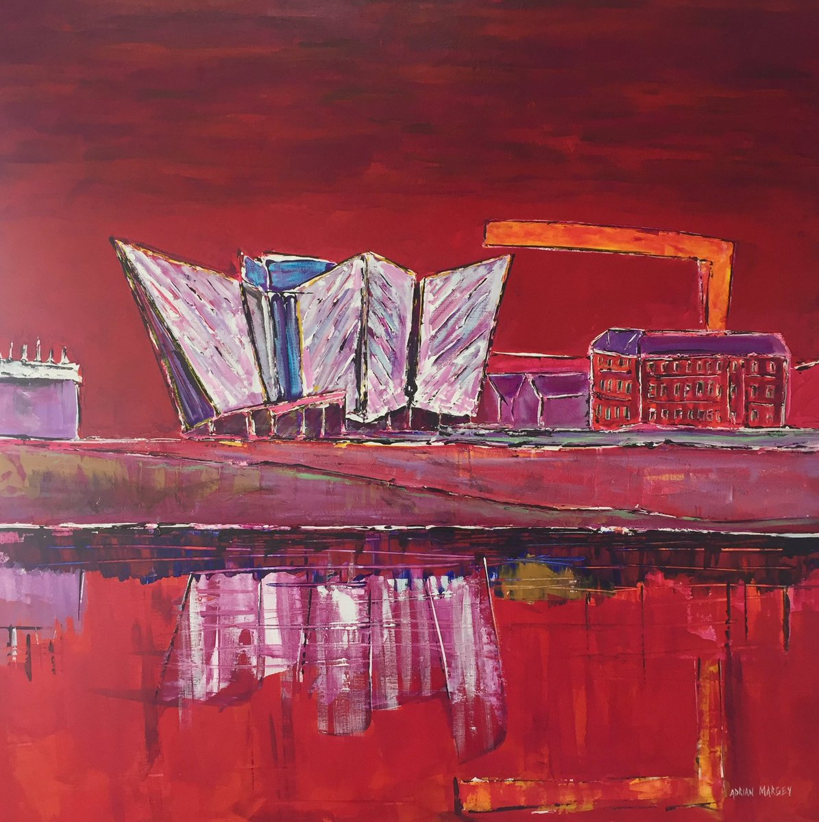 &#39;#Titanic Building, #Belfast&#39; on show in my #Portrush Studio &amp; Gallery this weekend...open again Saturday &amp; Sunday: 11am - 6pm.<br>http://pic.twitter.com/MbSaJXOpvG