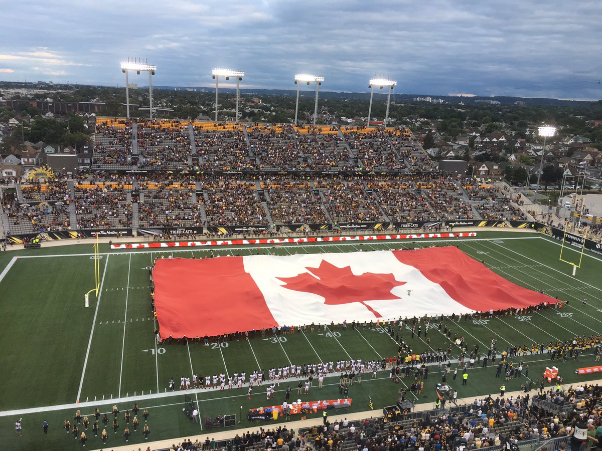 It's the REDBLACKS and Ticats from Tim Hortons Field. @AJonSports and...