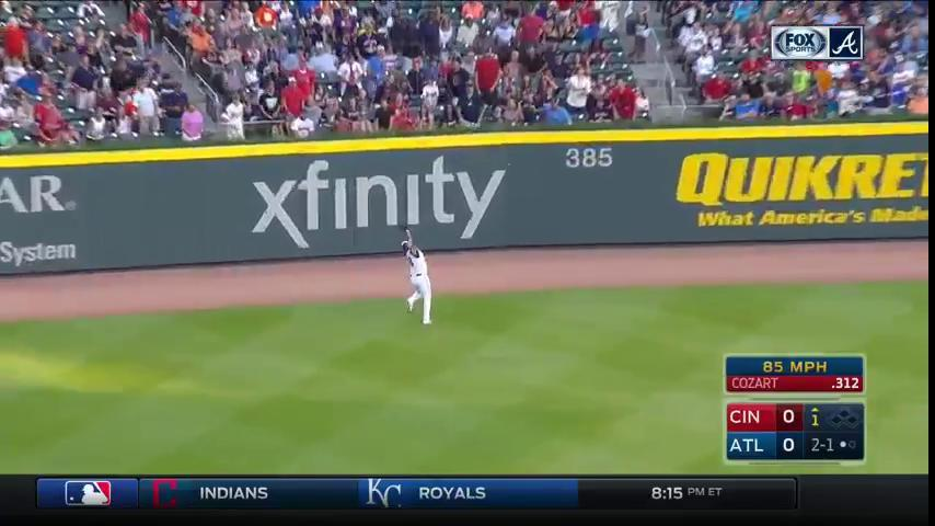 Matt Adams. Back. Tracks. And makes the grab. #Braves https://t.co/ZAk...