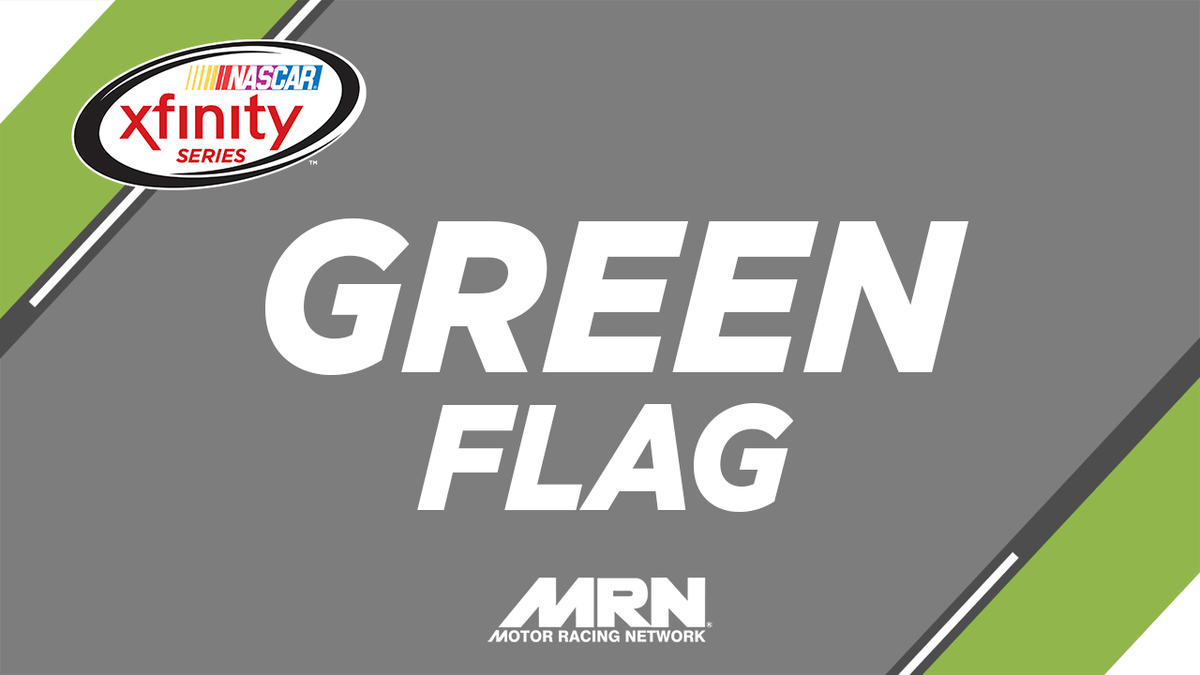 GREEN FLAG! We're underway in the #FoodCity300 @BMSUpdates! Radio cove...