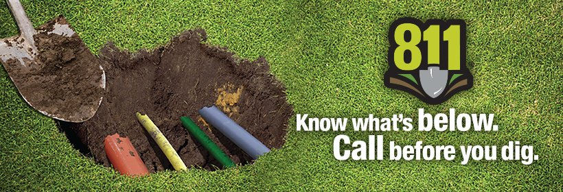 Reduce the changes of causing damage to underground utilities by always calling 811, visit…