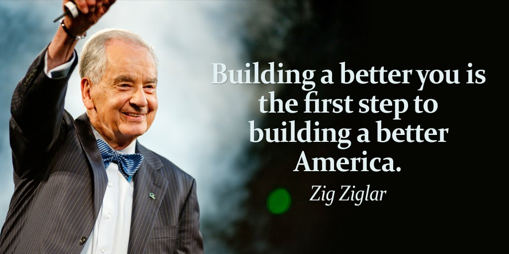 Building a better you is the first step to building a better America....
