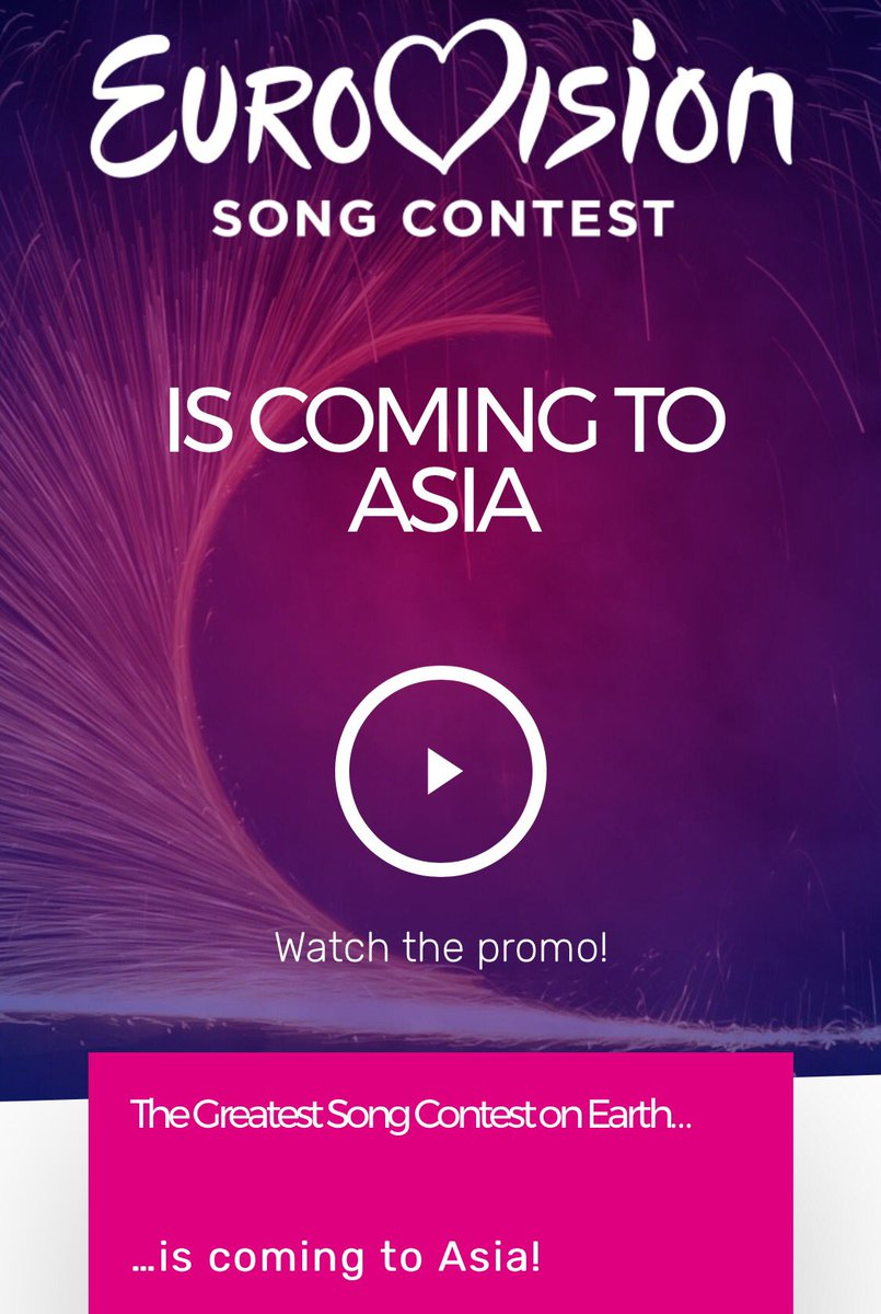 #EUROVISIONASIA is coming!  The &quot;Eurovision Asia Song Contest&quot; starts up:    https:// eurovisionasia.tv/buzz/  &nbsp;       https:// youtu.be/ASfqwUB2o4Y  &nbsp;     #Eurovision <br>http://pic.twitter.com/F9xxgaWje2