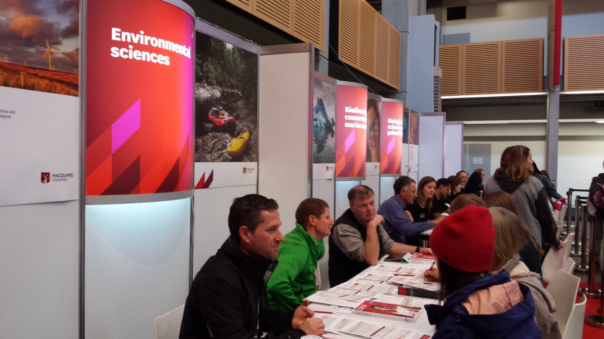 Interested in studying #environmental #science and #management?  Visit the @EnvScMQ #academic #advising desk @MQSciEng #MQOpenDay<br>http://pic.twitter.com/yeAIx8aq4p