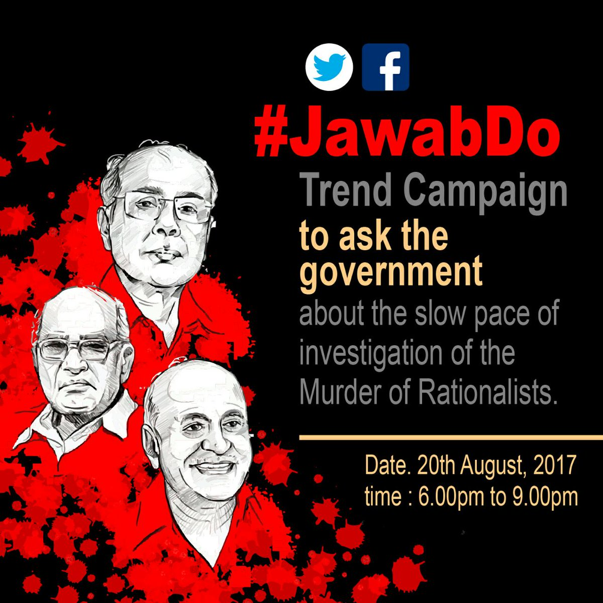 #JoinUs to be a part of #JawabDo campaign! Your support is invaluable! #AnswerUs When the investigation will speed up? @CMOMaharashtra<br>http://pic.twitter.com/hsiHxys4Qx