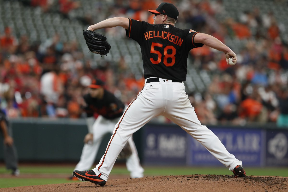 Hellickson makes quick work of the Angels in the 4th, retires the side...