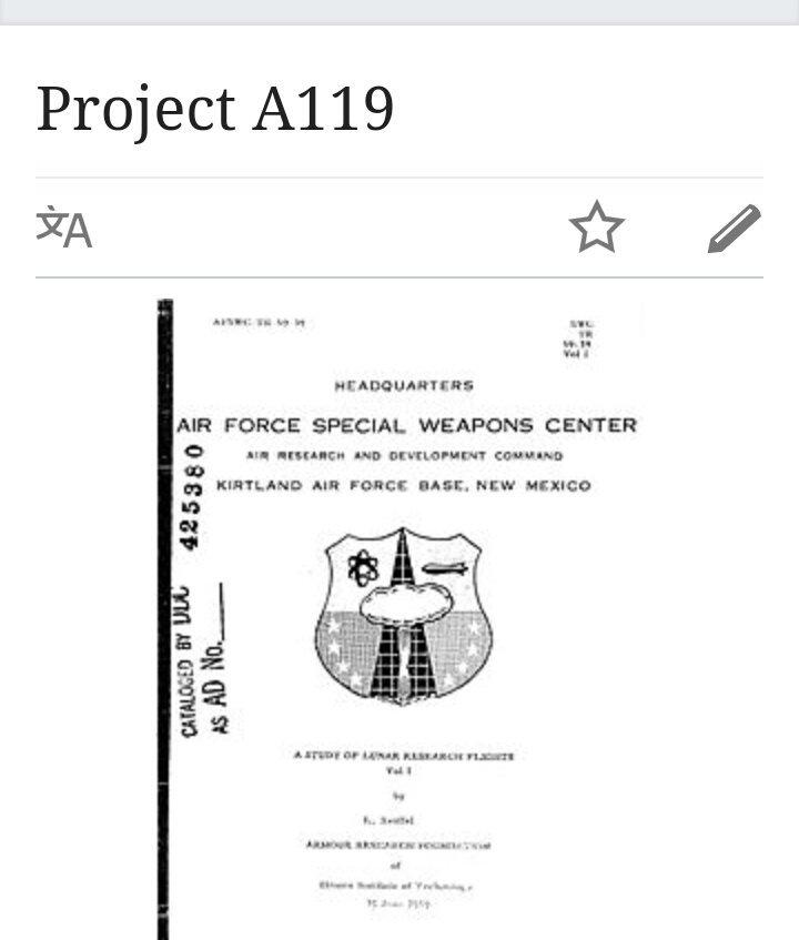"SodaPop Joe on Twitter: ""It will be like Project A119, when they planned to  Nuke the ????...… """