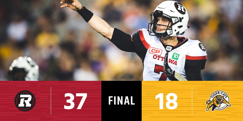 The @REDBLACKS storm into Hamilton and leave with a 37-18 win over the...