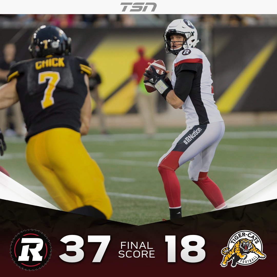.@Ticats fall to 0-8 after being defeated by the @REDBLACKS 37-18 #CFL...