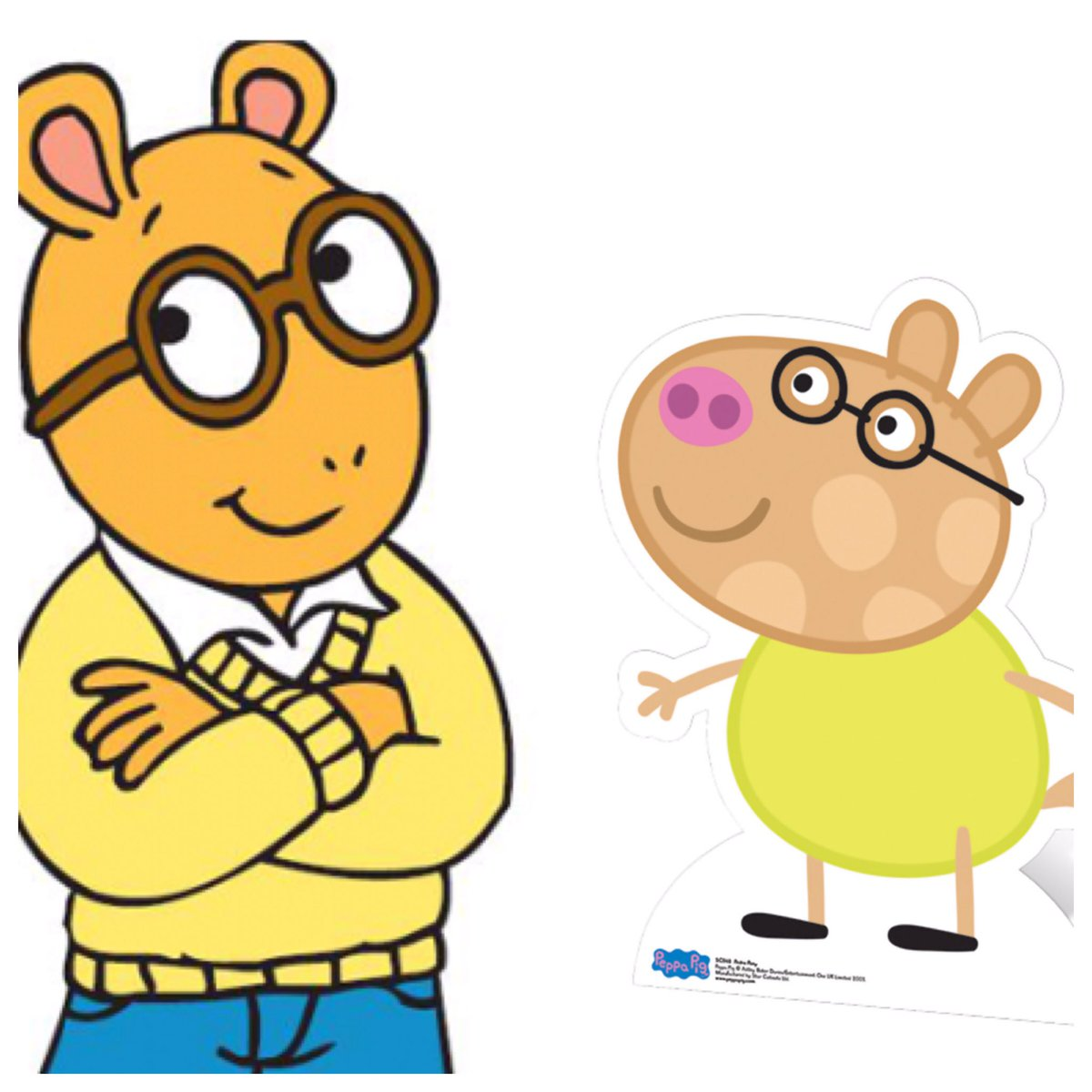 I&#39;m so relieved #Arthur had an agent who could get him that role on #PeppaPig. #InstantFanTheory #Cartoons #Clones<br>http://pic.twitter.com/nEw4EVdqka