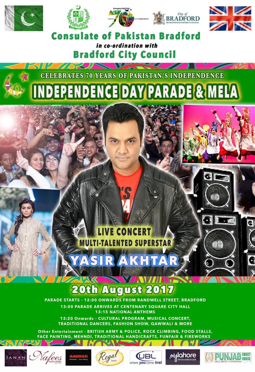 GET READY #BRADFORD! I&#39;m coming tomorrow to rock the most prestigious event in the UK. #YasirAkhtar #BreakingNews #Friends #Concert #BBC<br>http://pic.twitter.com/bBpXTodtv6