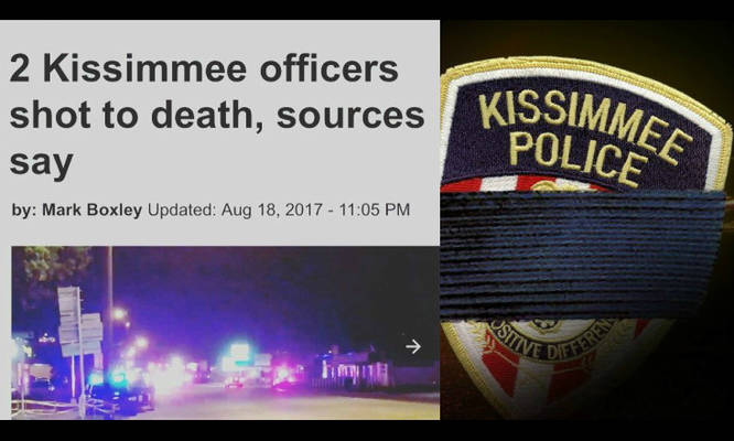 HEARTBREAKING: 2 #Police Officers Shot &amp; Killed Tonight In Kissimmee Florida. This Madness MUST END #BlueLivesMatter Prayers<br>http://pic.twitter.com/k2fC7iyL0N