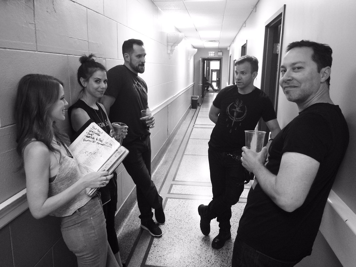 Some of the gang backstage moments before #CriticalRole Live at #GenCo...