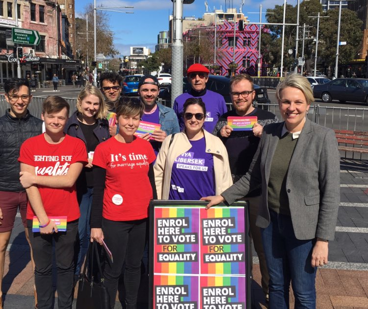 Sydney says yes! #MarriageEquality https...