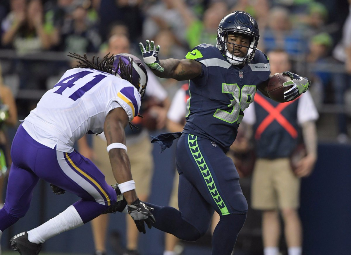 FINAL:  Seahawks beat the Vikings, 20-13 in the pre-season.  Kasen Williams & Mike Davis caught TD passes.