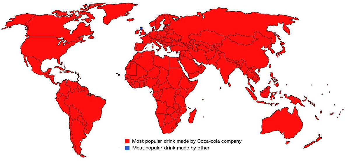 According to this #map good old #Scotland is the only country where the most popular drink isn&#39;t @CocaCola branded.  https:// buff.ly/2vHXaqr  &nbsp;  <br>http://pic.twitter.com/vCe8f428M0