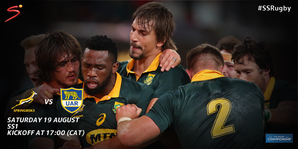 The @Springboks have only lost one test at home against Argentina (Durban, 2015). #RugbyChampionship