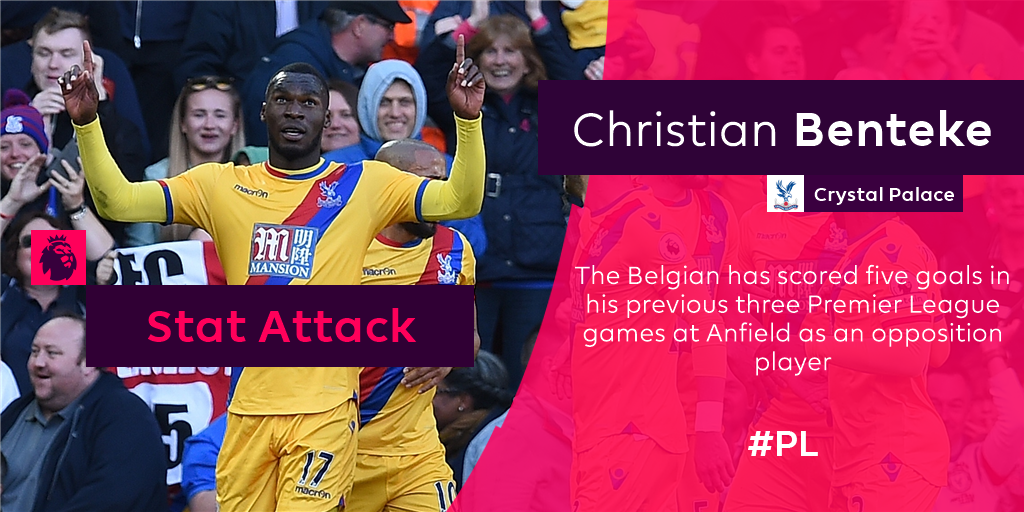 Can @chrisbenteke continue his great form at Anfield...? #LIVCRY https...