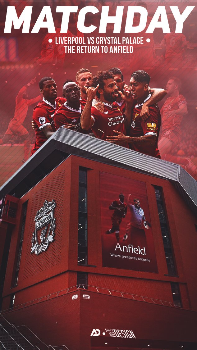 The Reds return home.    @CPFC  #PL   15:00 BST  Anfield   http:// liverpoolfc.com/watch  &nbsp;  <br>http://pic.twitter.com/9h7KCDPPLH