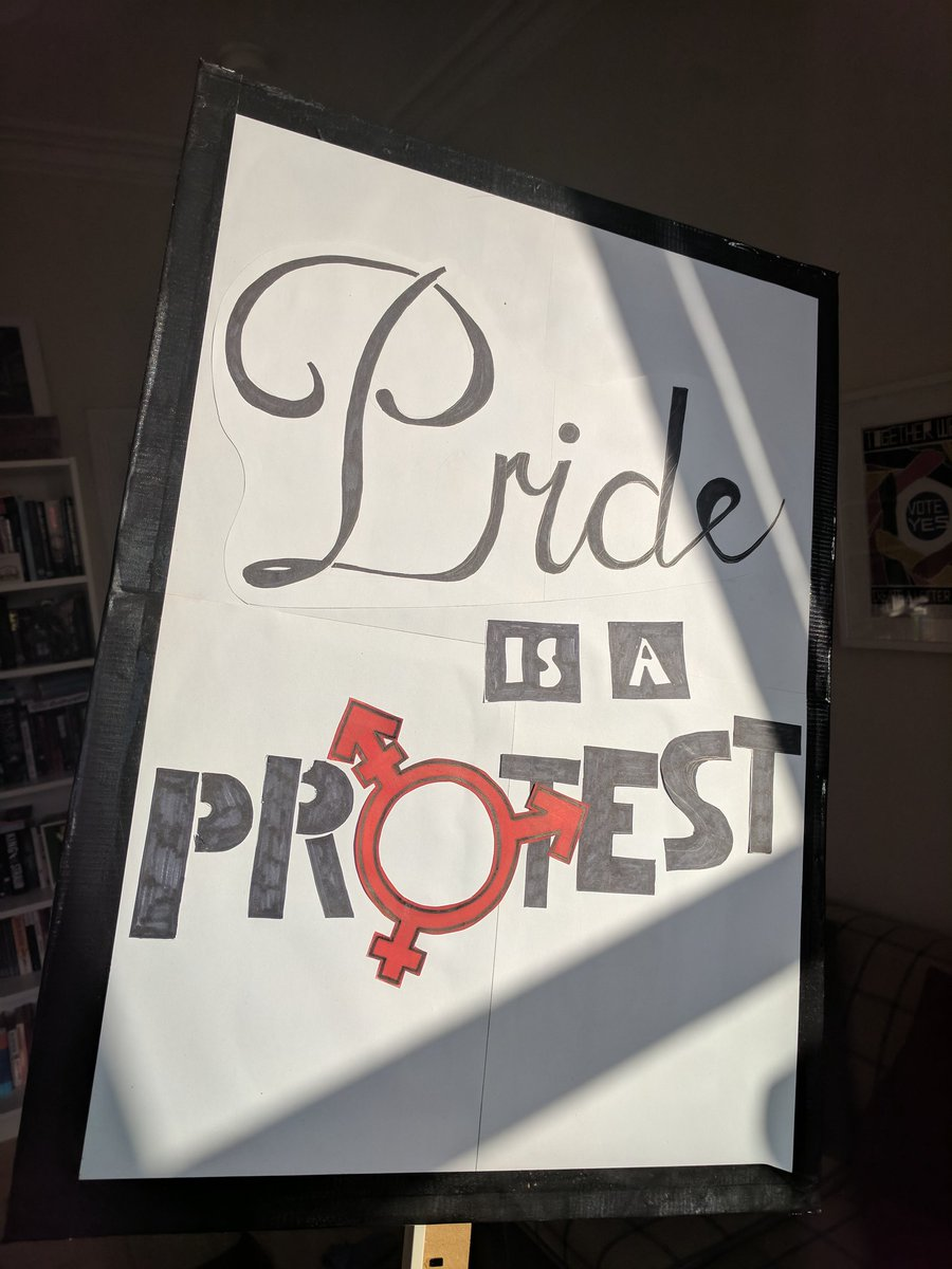 Sign is ready and made for marching in #PrideGlasgow today. ✊ https://...