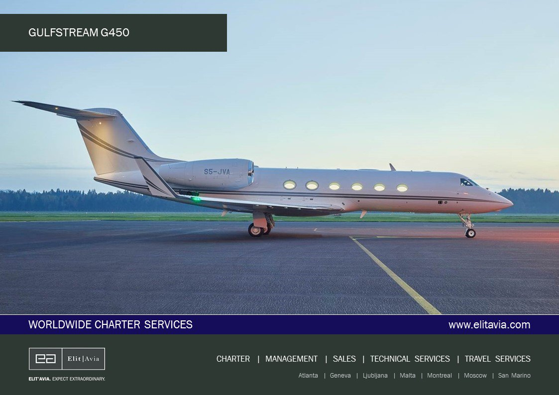 Elit&#39;Avia presents: Available for Charter - Gulfstream G450. #bizav #bizjet #чартер #бизнесавиация  http:// ow.ly/Uk3P30evm2V  &nbsp;  <br>http://pic.twitter.com/2P9rhgvedC