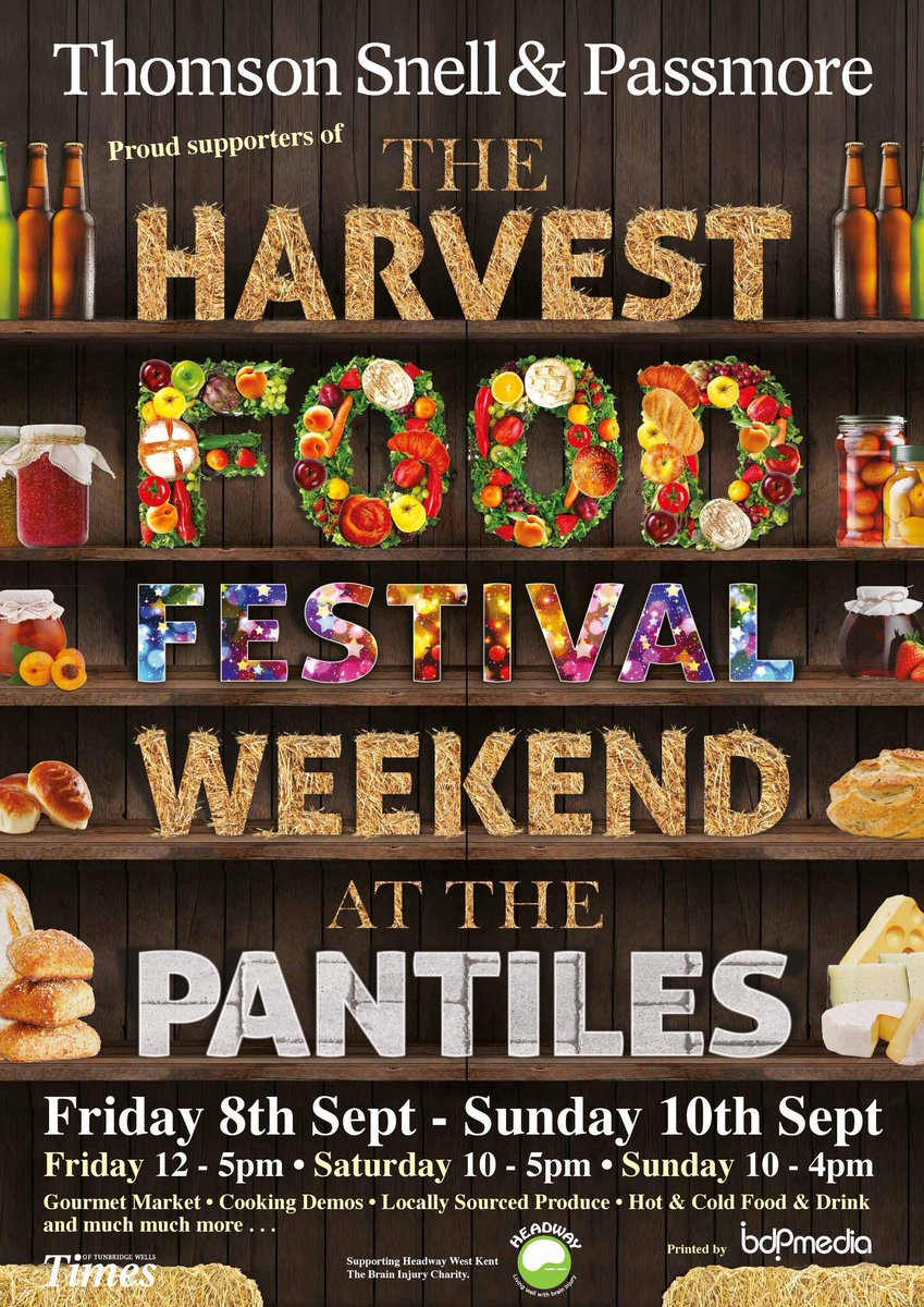The Harvest Food Festival is returning to #ThePantiles from 8-10 September! Yummy #food &amp; #local produce!  #tunbridgewells #kent RT!<br>http://pic.twitter.com/Yx6YrWHPrp