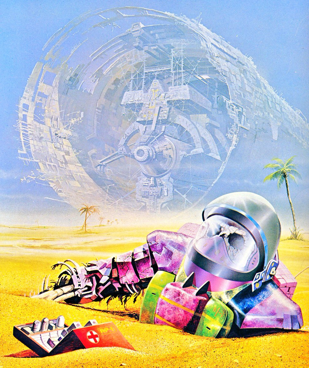 "SciFi Art on Twitter: ""Art by Angus McKie. Pic from The Flights of ..."