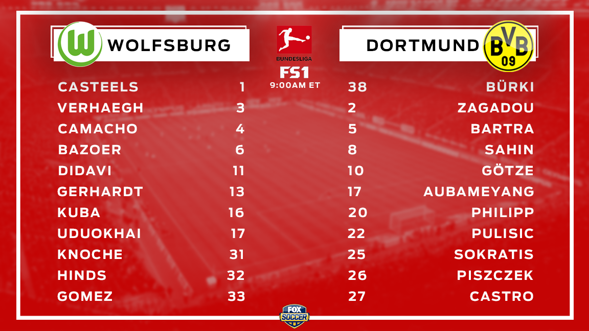 Pulisic gets the start in Dortmund's first #Bundesliga match of the season!  Coverage starts at the top of the hour on @FS1.<br>http://pic.twitter.com/GfB5OQSEgy