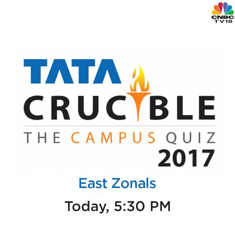 Don't miss the East Zonal round of the @Tata_Crucible The Campus Quiz 2017 at 5:30 PM.