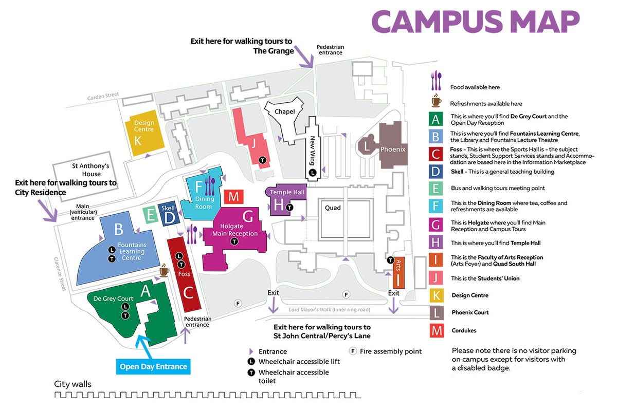 St Johns Campus Map.York St John University On Twitter There S A Campus Map In Your