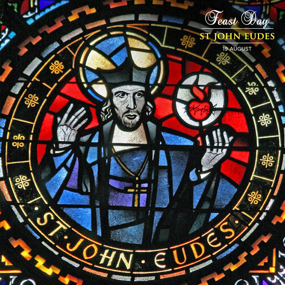 Saint John Eudes left spiritual writings and promoted devotion to the Sacred Heart of Jesus and of Mary. #saint #prayforus #feastday #prayer<br>http://pic.twitter.com/ha2Dp7sgju