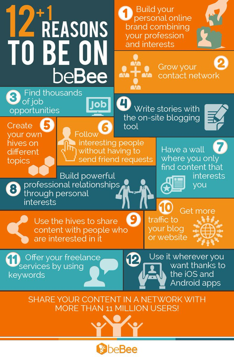 The 12+1 best reasons to be on #beBee. #smm #personalbrand #amwriting<br>http://pic.twitter.com/8qqz0bBYjS