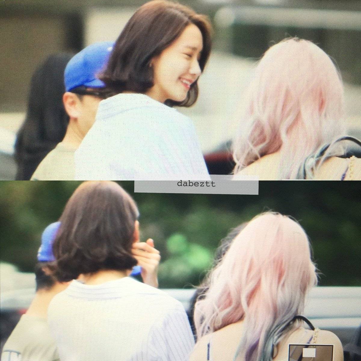 Snsd Attend Red Velvets Concert Yoonas New Short Haircut