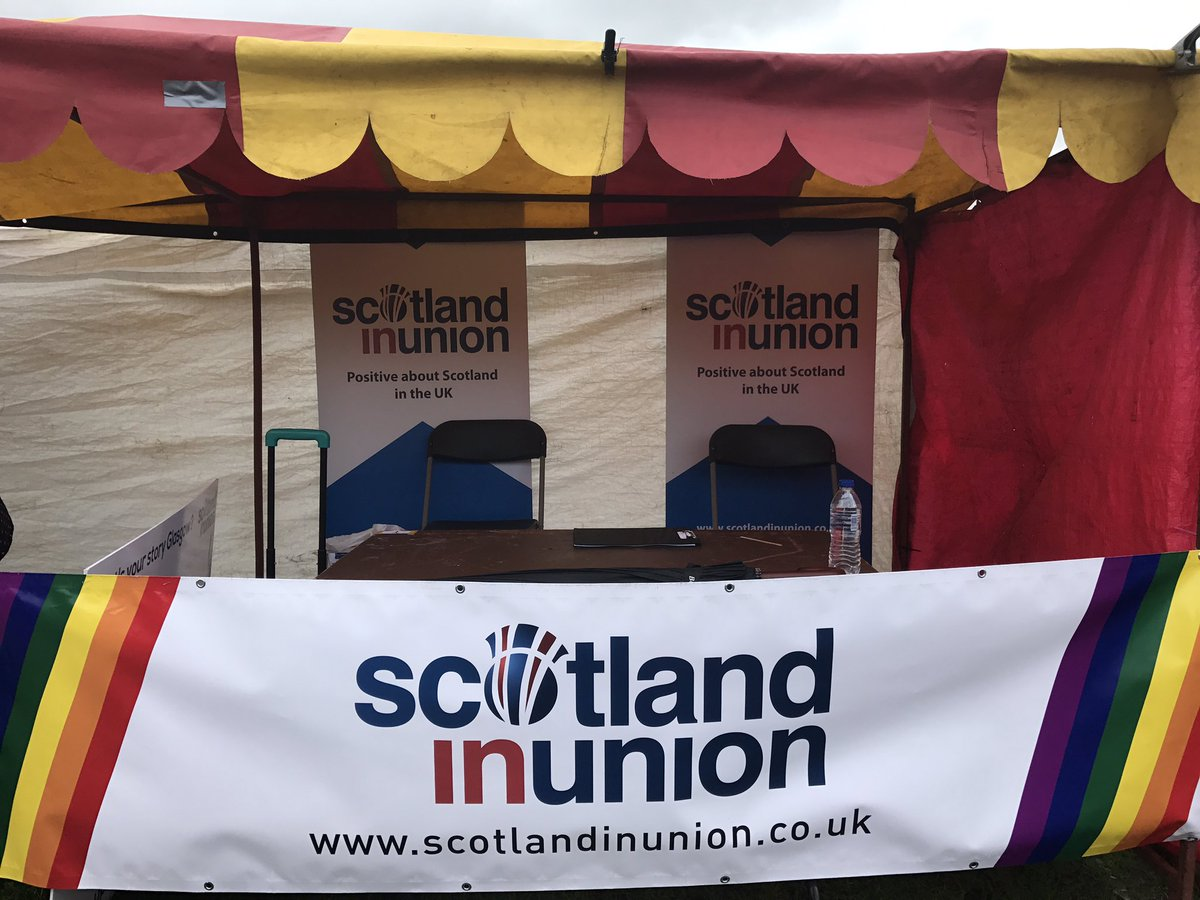 All set for @prideglasgow today. Make sure you pop by our stall and sa...