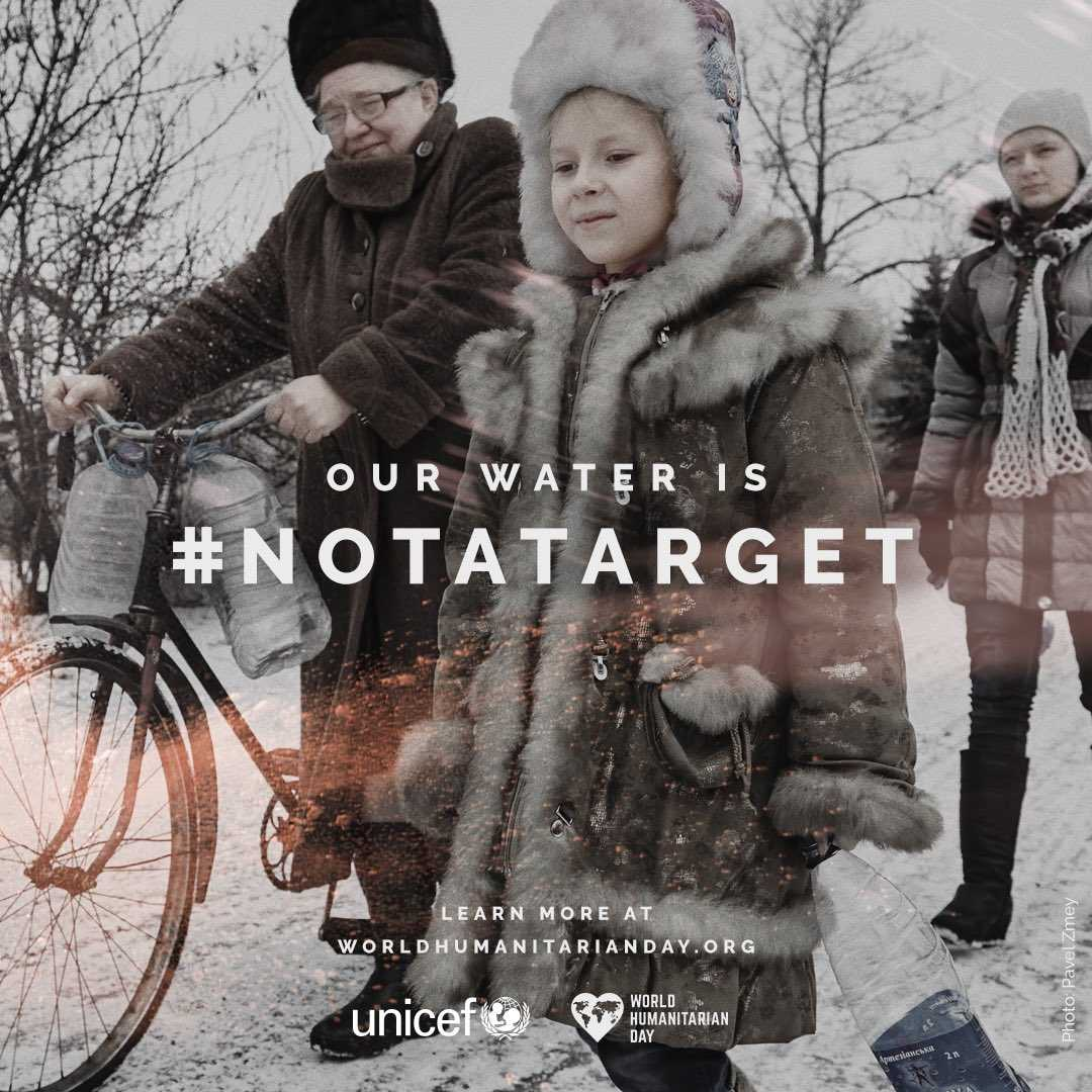 Fighting in #Ukraine causes regular water cuts &amp; puts children at risk of water-born diseases. #Water is #NotATarget! v/@unicef_ua<br>http://pic.twitter.com/RDyMVCDwjA