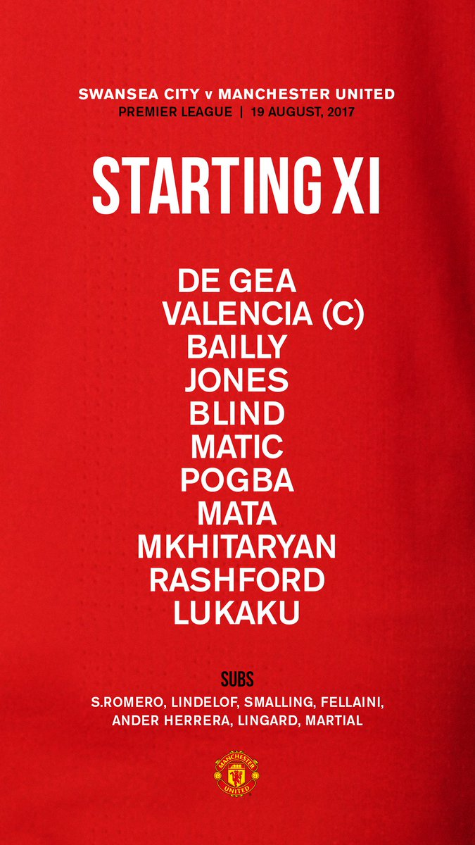 Here is today's #MUFC line-up... #SWAMUN