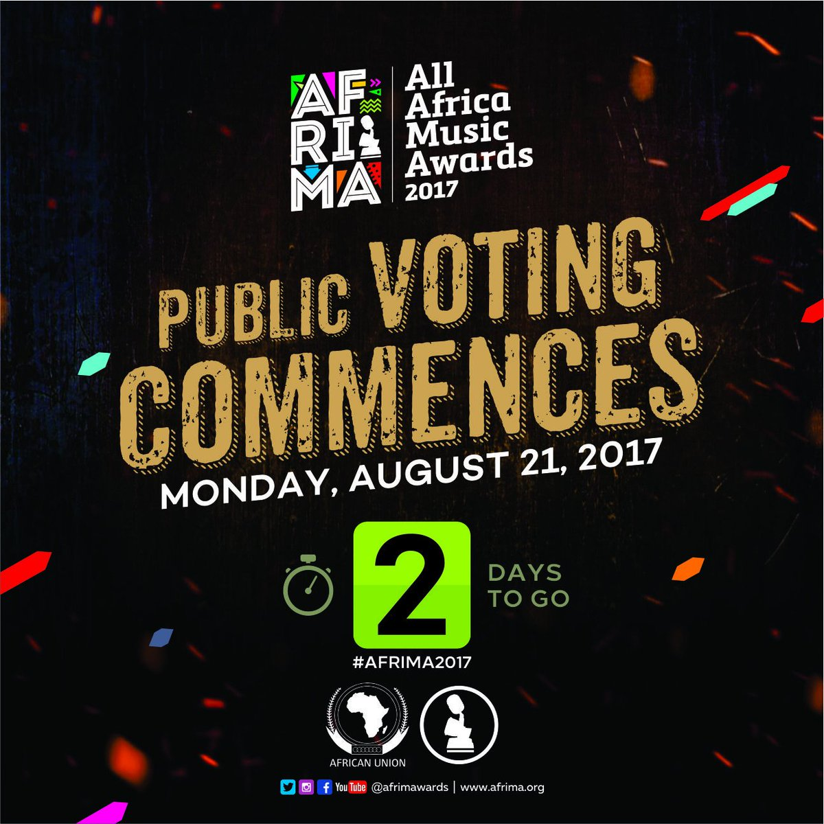 #AfricaDecides   #AFRIMA2017  #Vote the next best music talents on the continent!  #AFRIMA2017PublicVoting Africa&#39;s Biggest Music Event<br>http://pic.twitter.com/STscXxM1PW