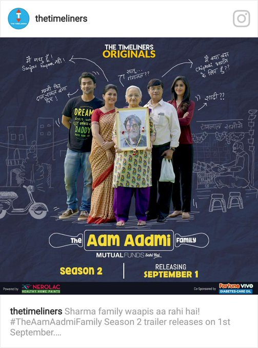 See this Instagram photo by @thetimeliners https://t.co/131aGPoLD1 Aam Admi Family Season 2 https://t.co/OwECD2YH47