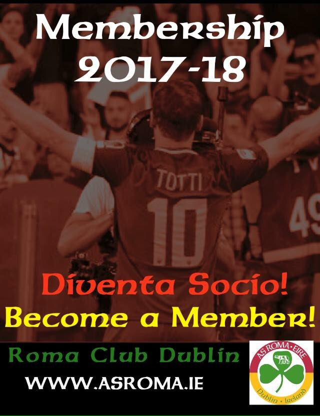 Join the Club! Diventa socio! #RomaClubDublin #ASRoma #RomaClub #ForzaRoma #Totti #AtalantaRoma #SerieATIM<br>http://pic.twitter.com/EACjIgRj58