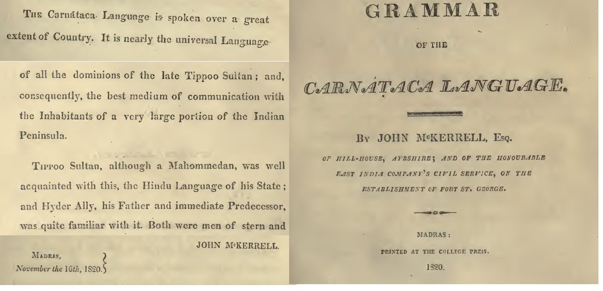 I think this is probabaly the &#39;first ever grammar of #Kannada in #English&#39; by John McKerrell in 1820 #grammar #Kannada #Carnataca<br>http://pic.twitter.com/WdAXYVzrgR