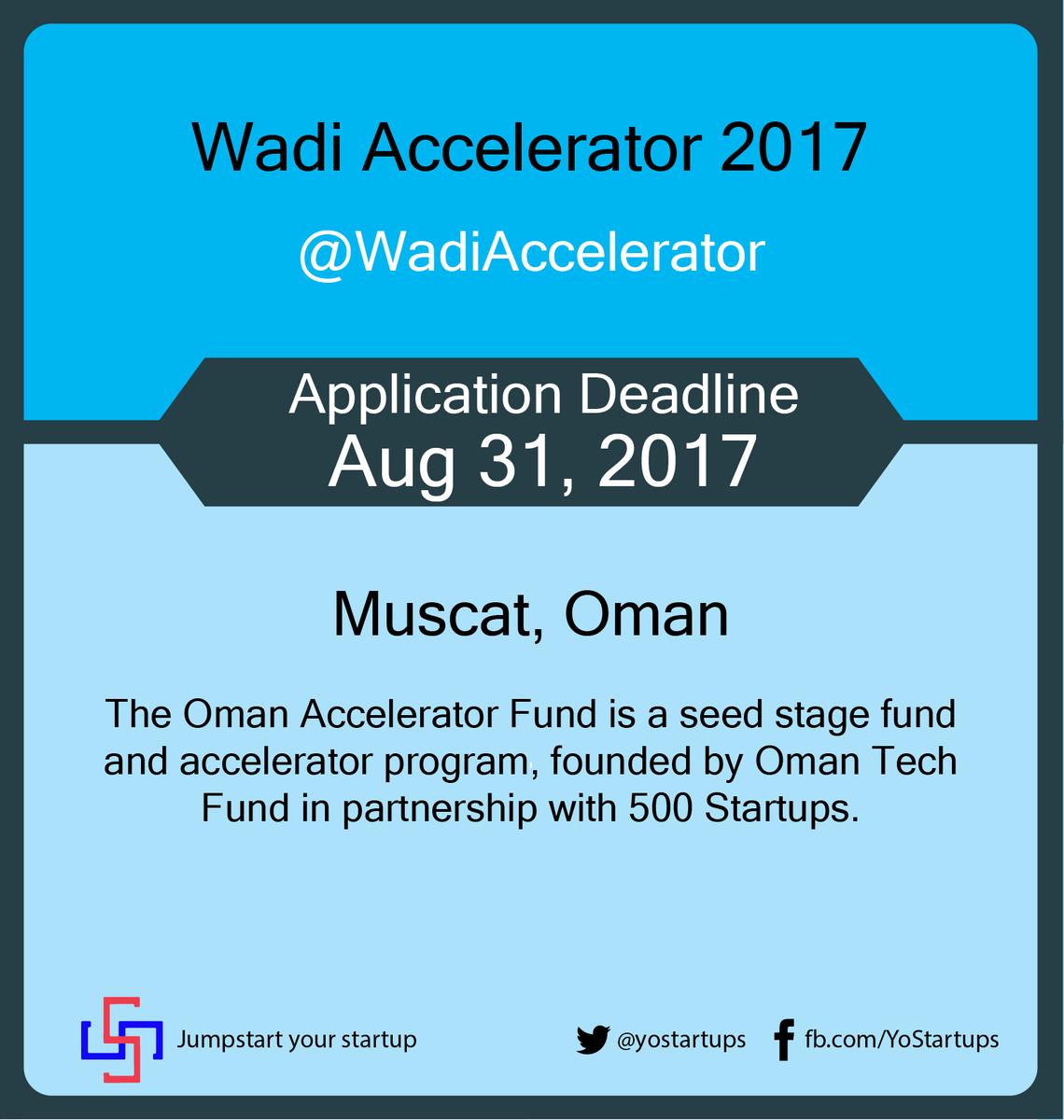 Checkout @WadiAccelerator investing &amp; accelerating technology-based #startups #accelerator #YoStartups  https:// goo.gl/NzTr1z  &nbsp;  <br>http://pic.twitter.com/lKR7qi2klk