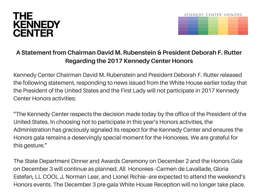 A Statement from Chairman David M. Rubenstein & President Deborah...