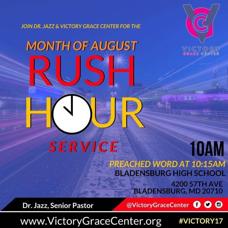 It&#39;s a #Victory Day! #VGC&#39;sAugust Rush Hour Services continue SUNDAY at 10am with the preached #Word at 10:15am @iamdrjazz #SaturdayMorning<br>http://pic.twitter.com/t9xYPWJlaF