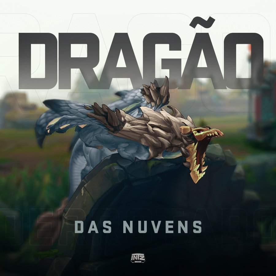 13' Primeiro dragão do jogo é nosso, dragão das nuvens. #GoINTZ #CBLoL...