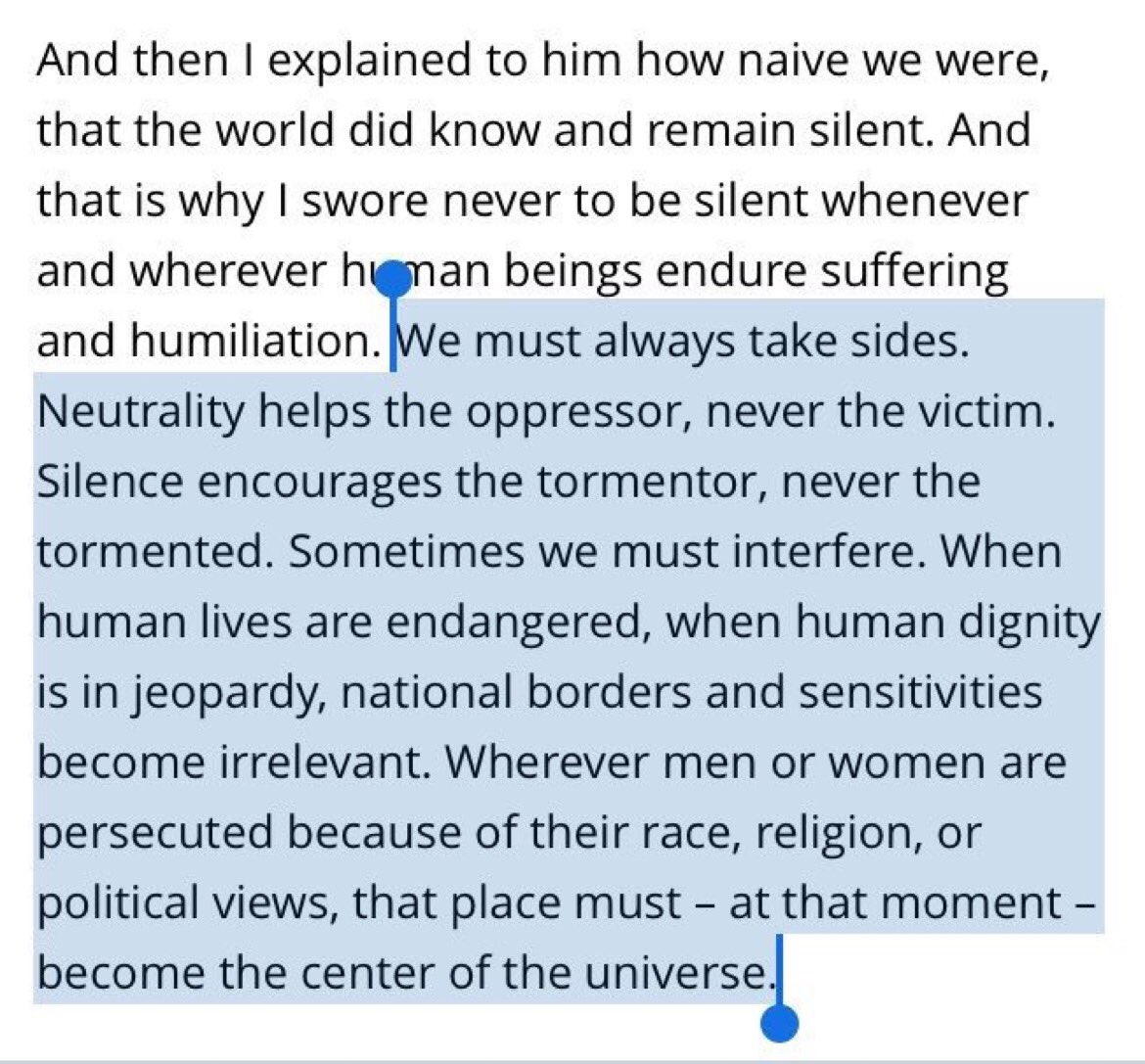 an analysis of elie wiesels nobel peace prize acceptance speech Holocaust survivor and nobel laureate, elie wiesel  including the 1986 nobel peace prize and the session that followed his speech).