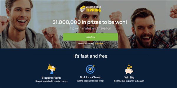 AFL Tipping Competition  $1,000,000 up for grabs in Sportsbet's Millio...