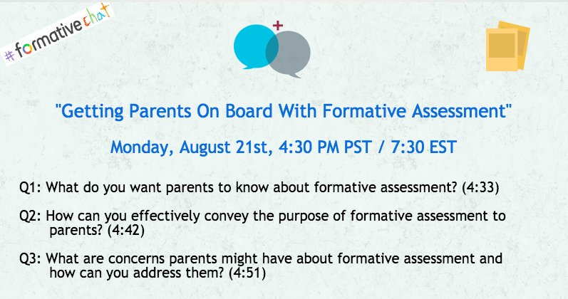 Join us on Monday to talk about #assessment and parent communication #Education #edtech #edtechchat #leadupchat #backtoschool<br>http://pic.twitter.com/5UpzBtv24T