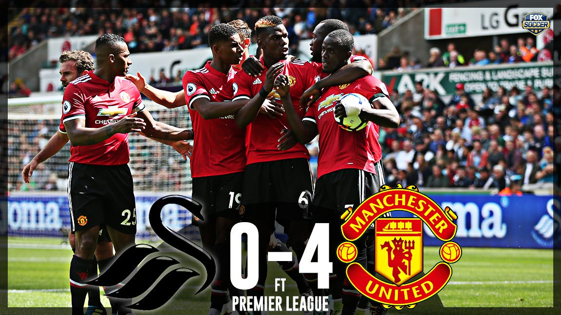 #SWAMUN Two games. Two 4-0 wins.  #ManUnited are on fire, They have to be favouraites for the title. Rt for Yes Like for No @benonwine <br>http://pic.twitter.com/92NhDE3jHT